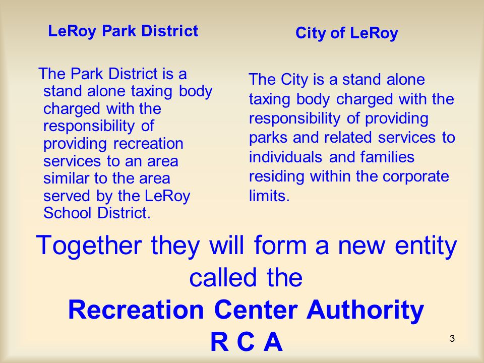 74 REC CENTER DETAIL OTHER OPERATION REVENUE OPTIONS –* Lease with LeRoy Schools The Le Roy school district could lease gym space to cover overflow practice needs.