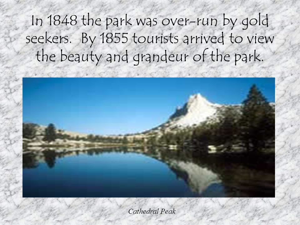 In 1848 the park was over-run by gold seekers.