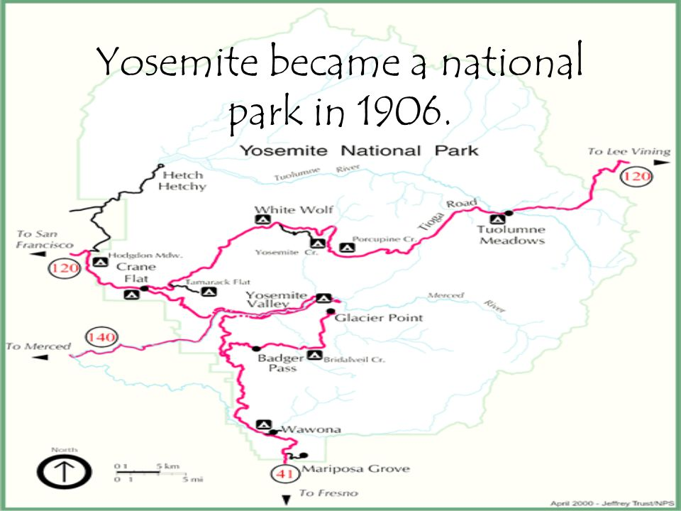 Yosemite became a national park in 1906.