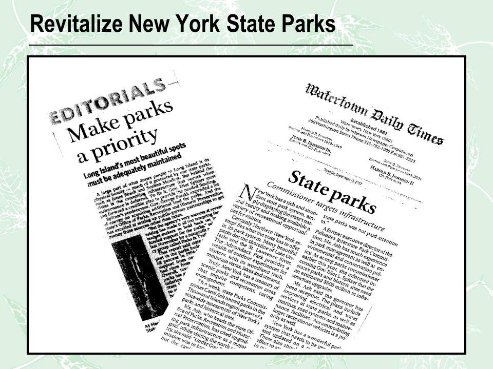 Revitalize New York State Parks