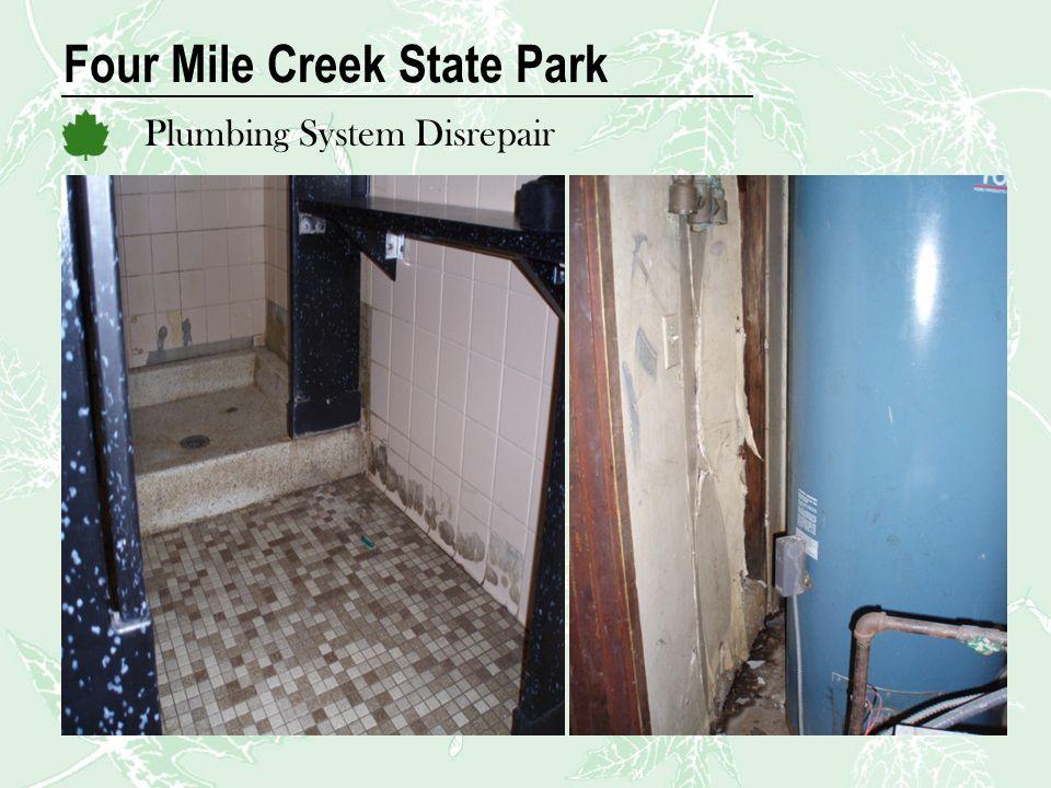 Four Mile Creek State Park Plumbing System Disrepair