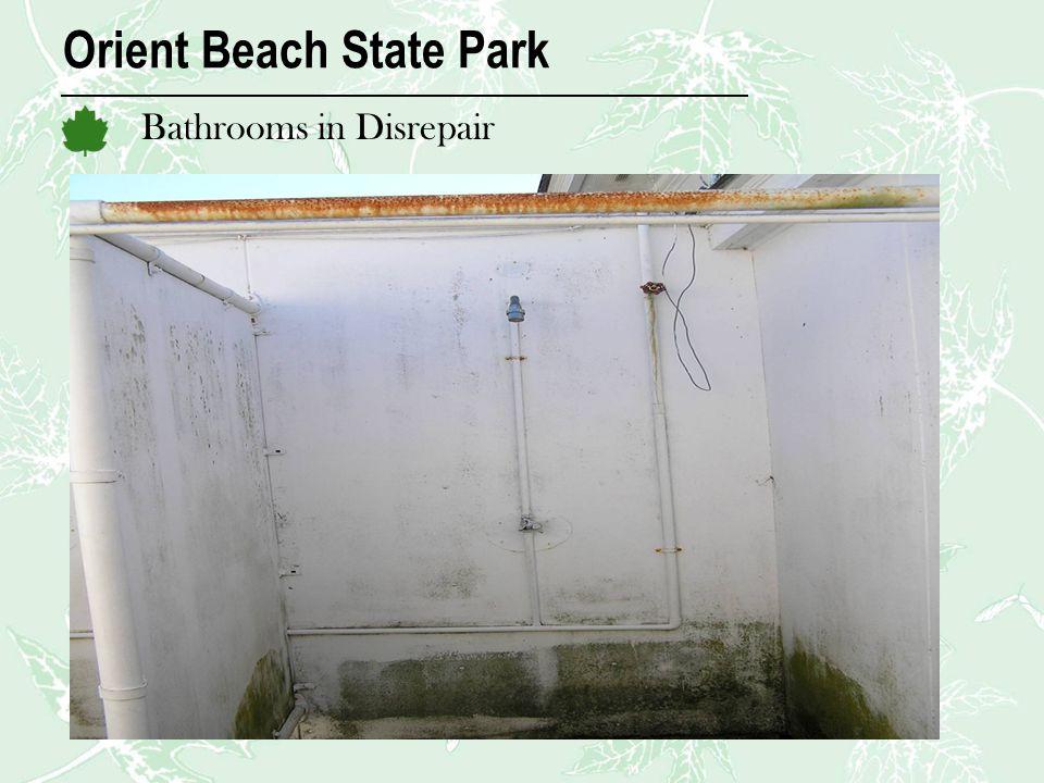 Orient Beach State Park Bathrooms in Disrepair