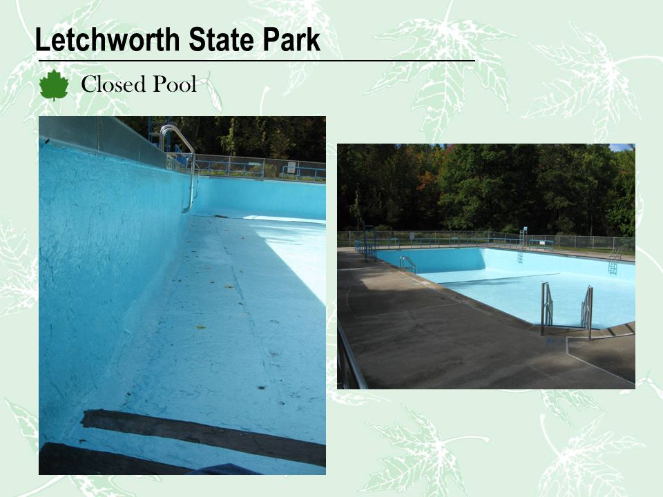 Letchworth State Park Closed Pool