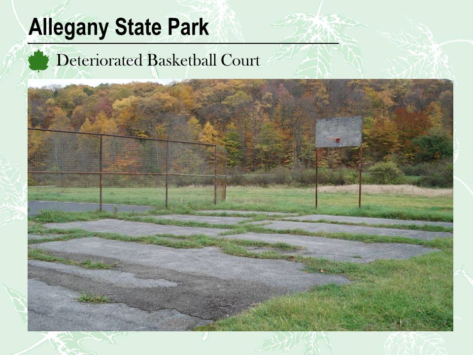 Allegany State Park Deteriorated Basketball Court