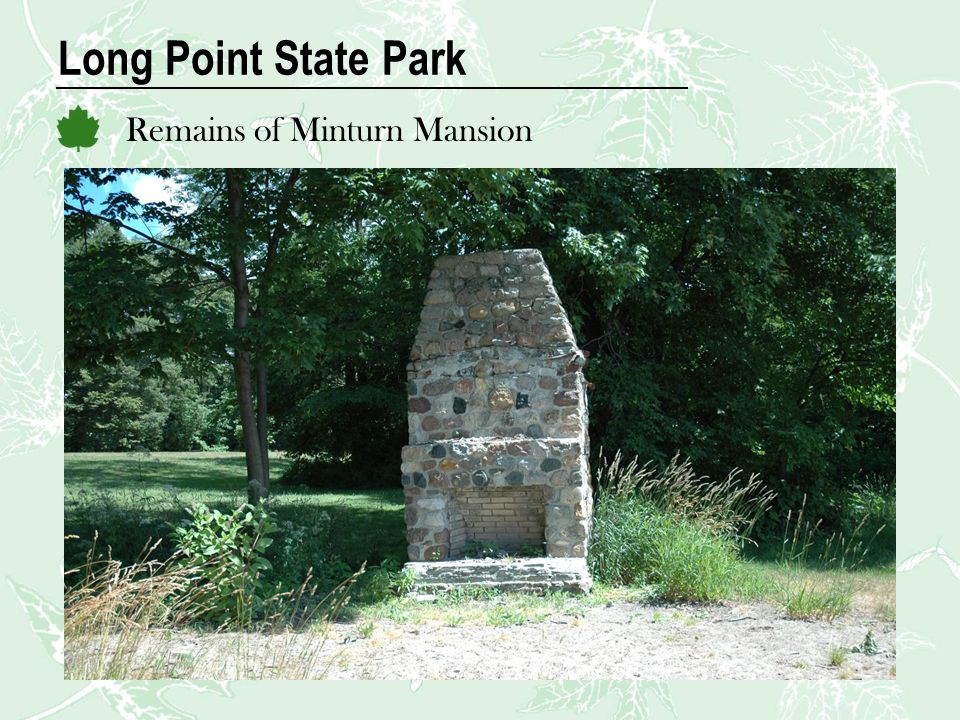 Long Point State Park Remains of Minturn Mansion