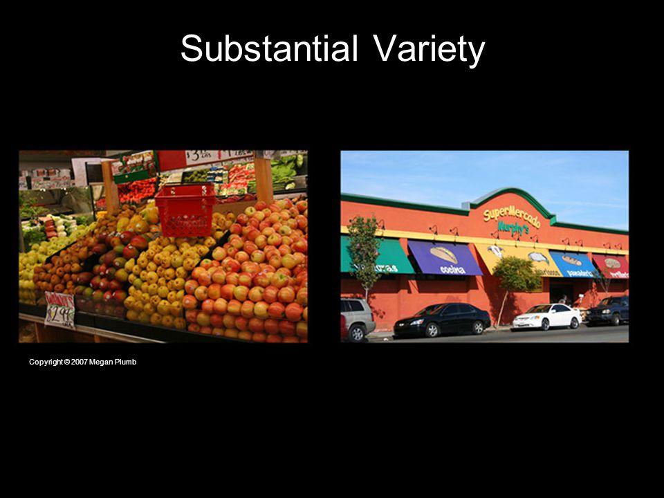 Substantial Variety Copyright © 2007 Megan Plumb