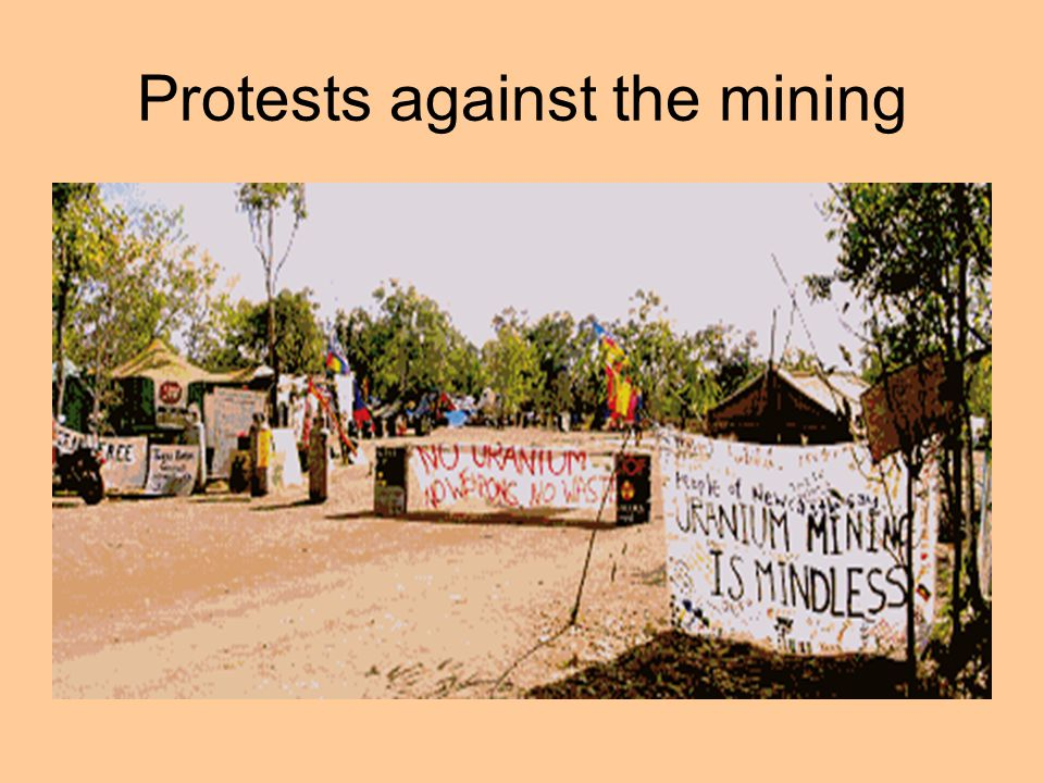 Protests against the mining
