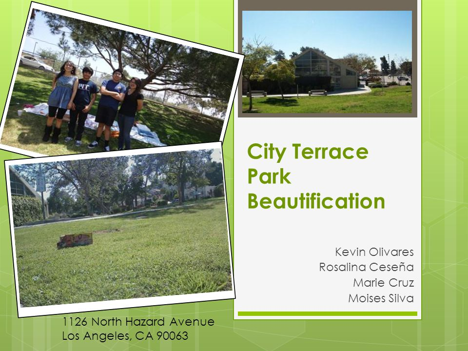 We will collect at least 200 signatures for an initiative petition asking for increased awareness of solid waste pollution – municipal waste – in City Terrace Park by May 25 th, 2012.