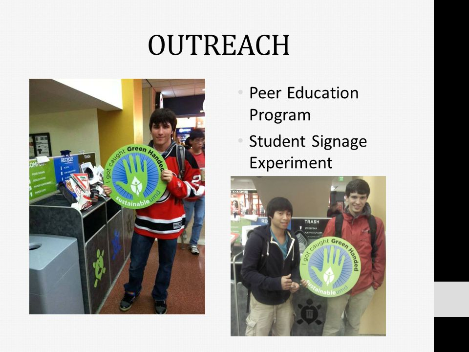 OUTREACH Peer Education Program Student Signage Experiment