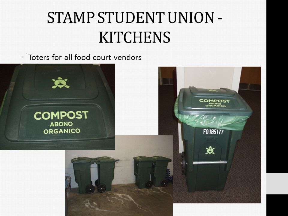 STAMP STUDENT UNION - KITCHENS Toters for all food court vendors