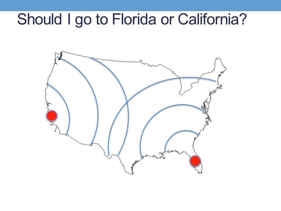 Should I go to Florida or California?