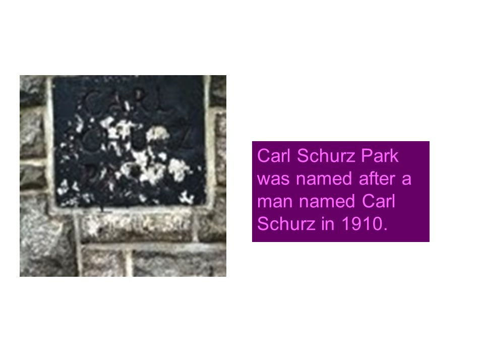 Carl Schurz Park was named after a man named Carl Schurz in 1910.
