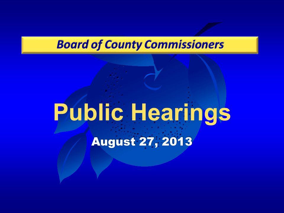 Public Hearings August 27, 2013