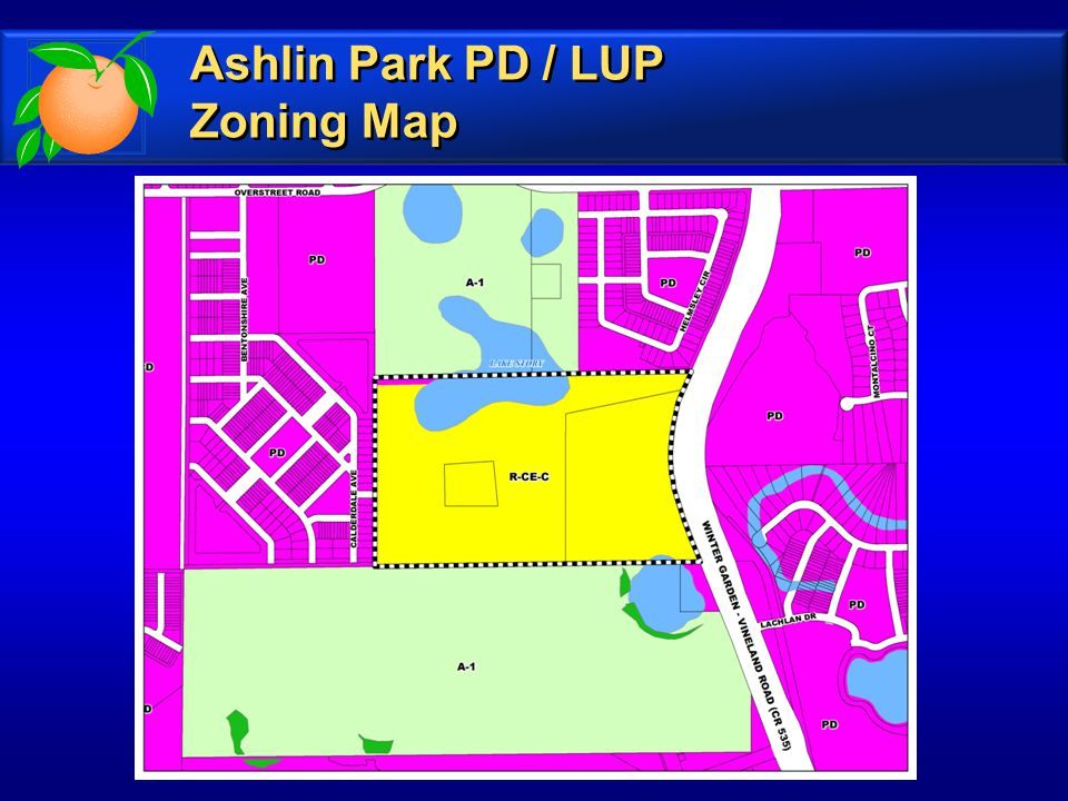 Zoning Map Ashlin Park PD / LUP Zoning Map