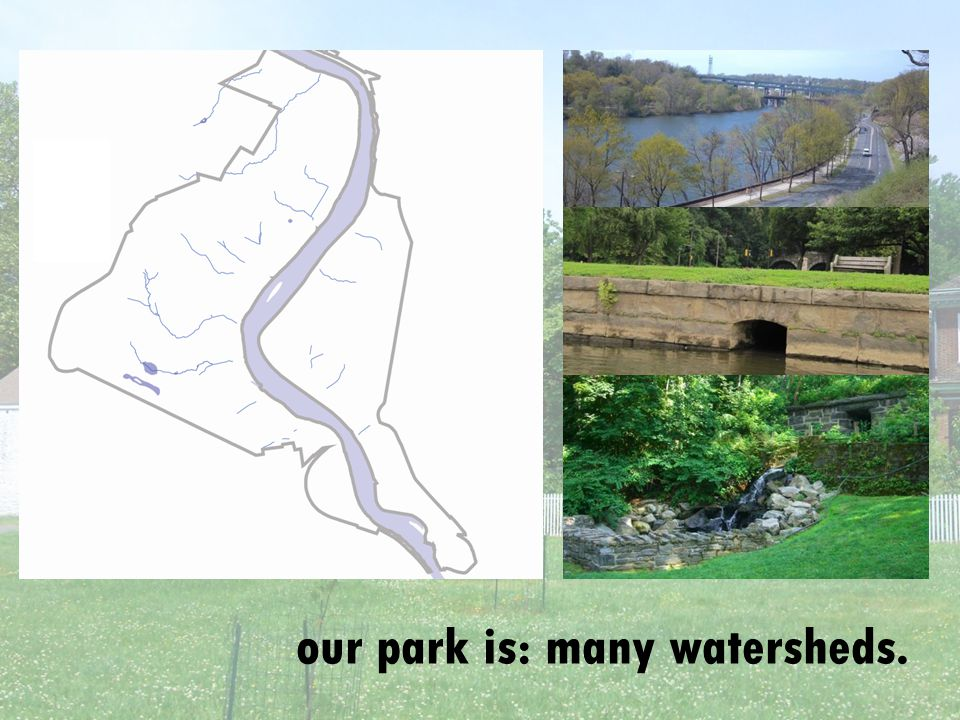 our park is: many watersheds.