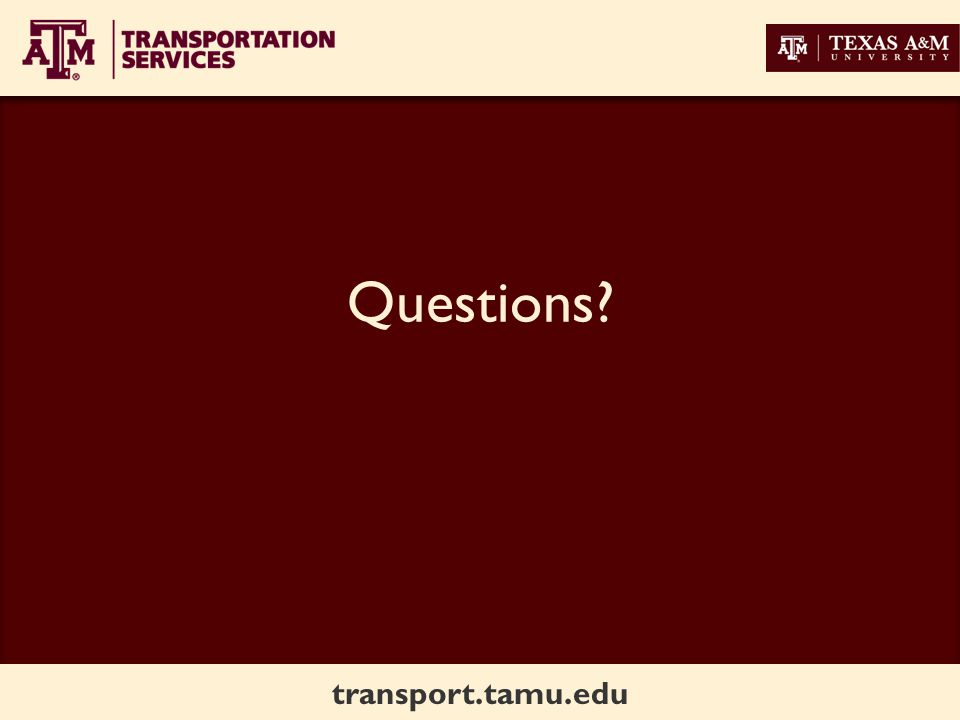 transport.tamu.edu Questions