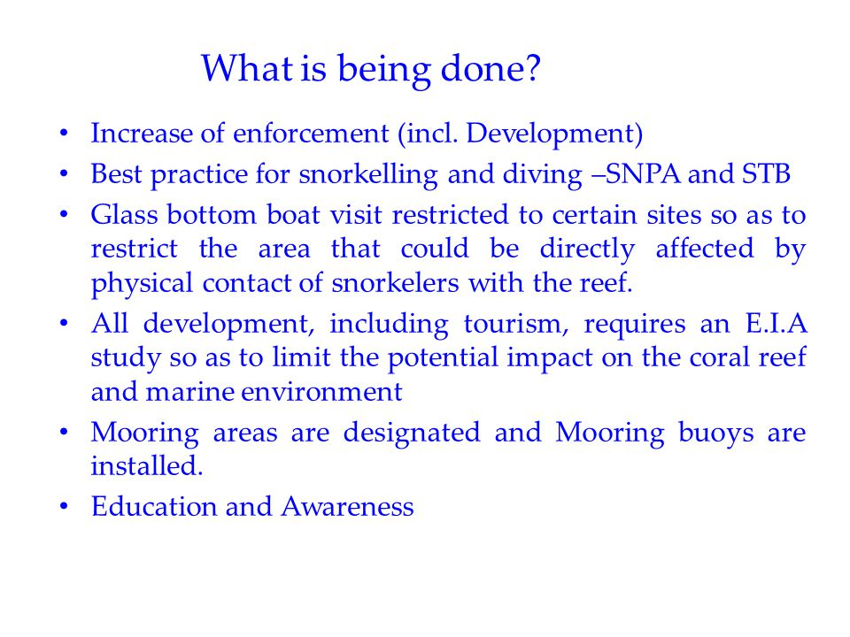 What is being done. Increase of enforcement (incl.