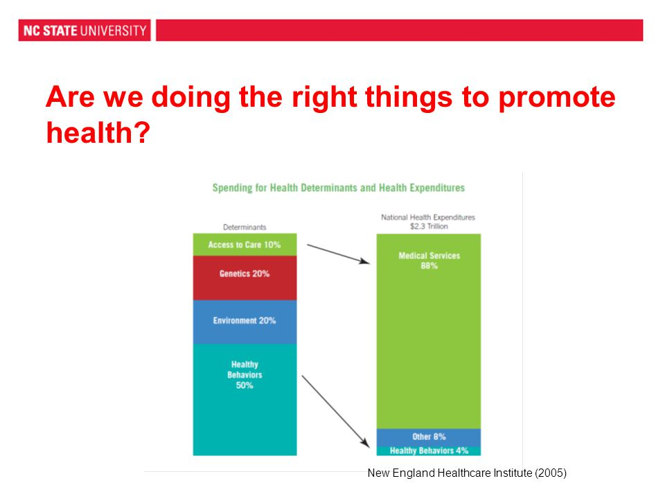 Are we doing the right things to promote health New England Healthcare Institute (2005)