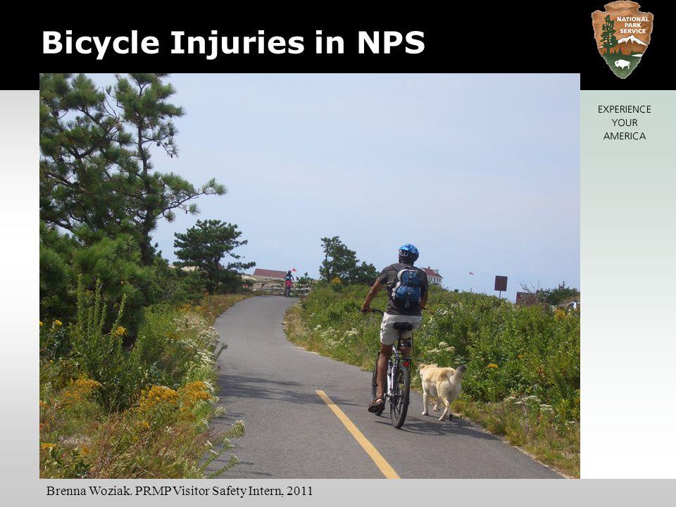 Bicycle Injuries in NPS Brenna Woziak. PRMP Visitor Safety Intern, 2011