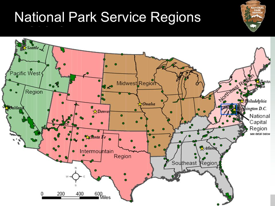National National Park Service Regions