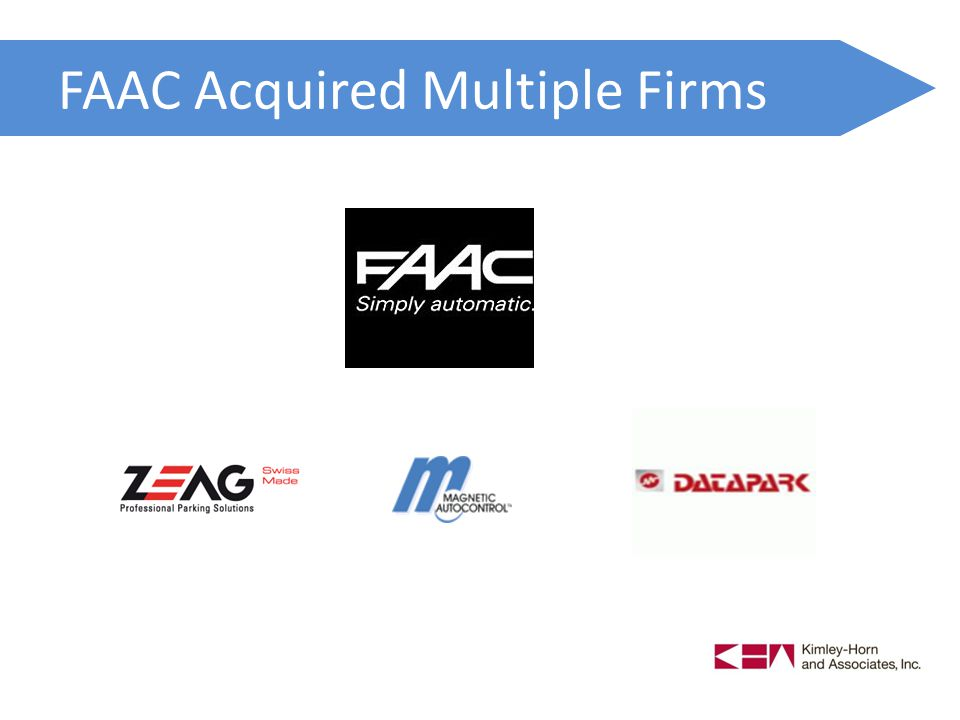 FAAC Acquired Multiple Firms