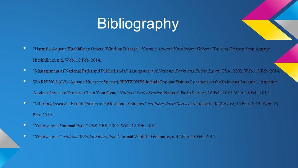Bibliography Harmful Aquatic Hitchhikers: Others: Whirling Disease. Harmful Aquatic Hitchhikers: Others: Whirling Disease.