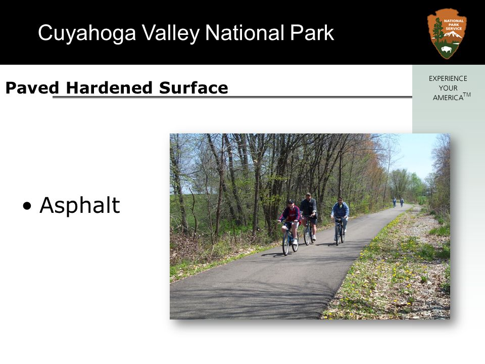Cuyahoga Valley National Park TM Paved Hardened Surface Concrete