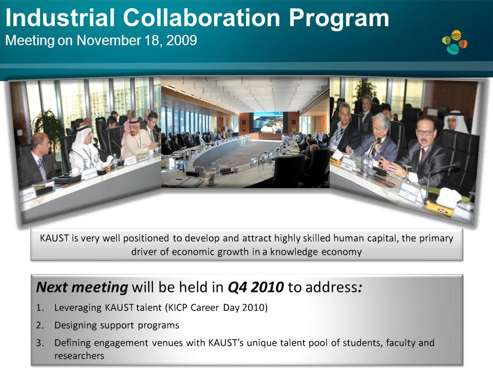Industrial Collaboration Program Meeting on November 18, 2009
