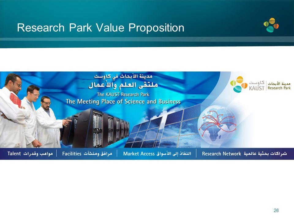 Research Park Value Proposition 26