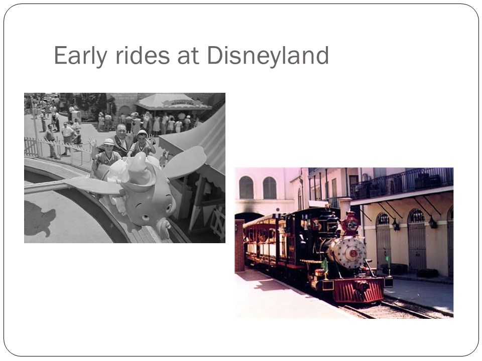 Early rides at Disneyland