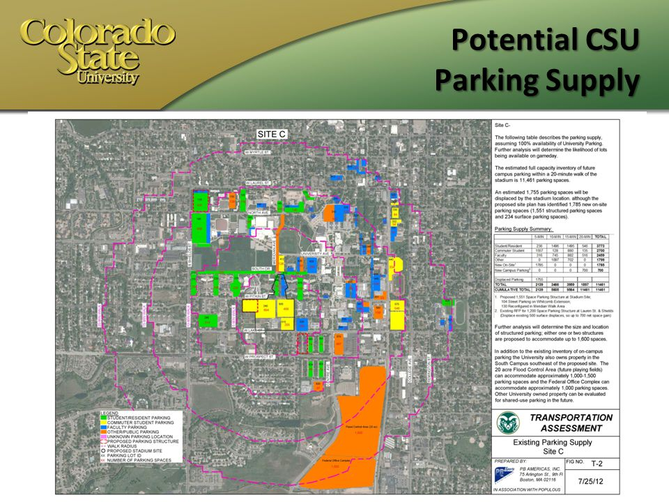 Potential CSU Parking Supply Use of Maps