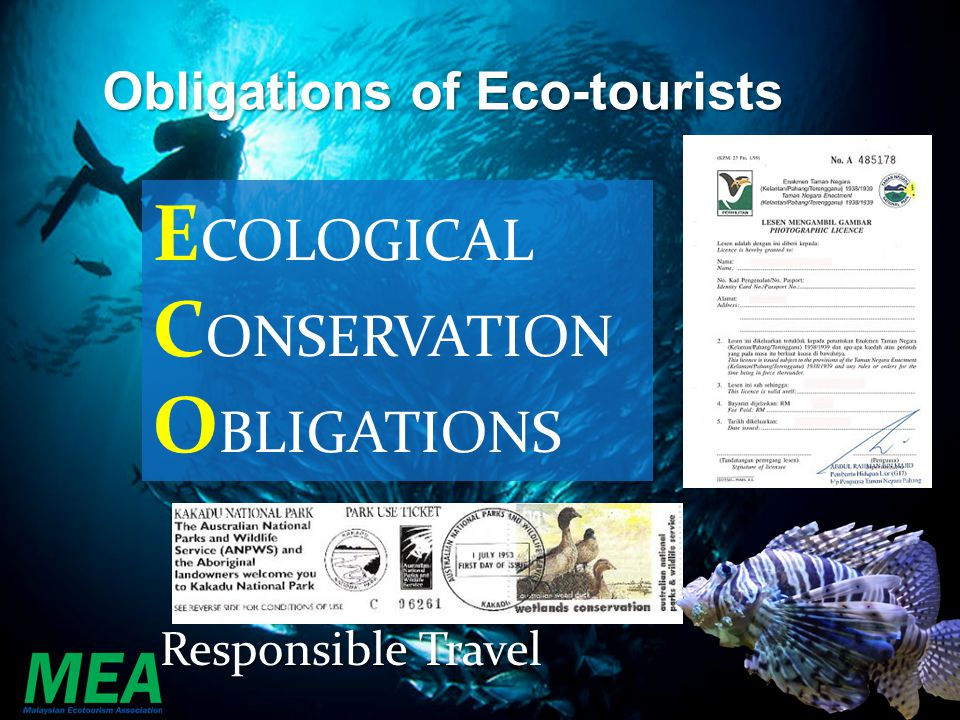 Founder Organisation of the Asia Pacific Ecotourism Society Thank You.