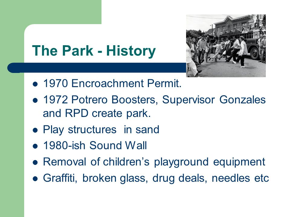 The Park - History 1970 Encroachment Permit.