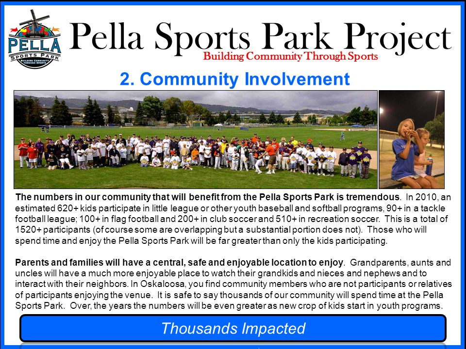 Pella Sports Park Project Building Community Through Sports 2.