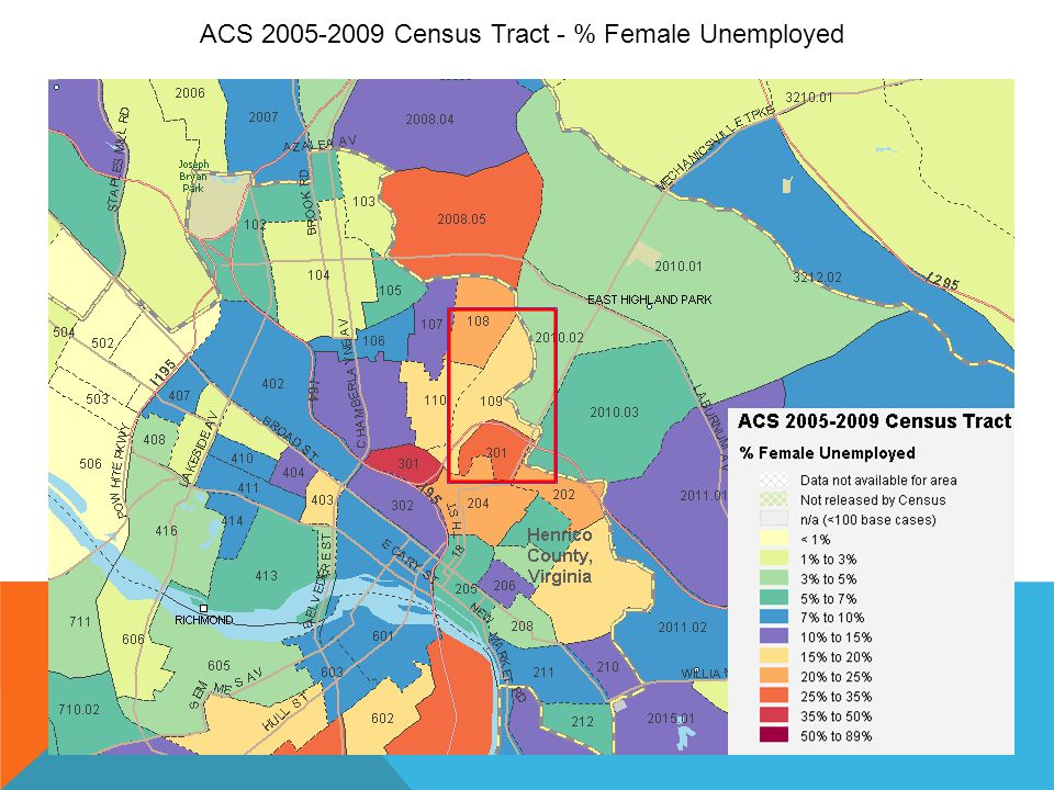 ACS 2005-2009 Census Tract - % Female Unemployed