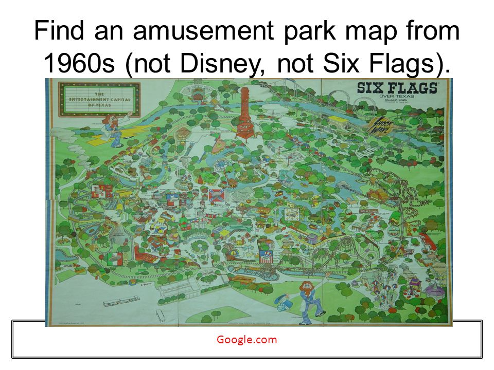 Find an amusement park map from 1960s (not Disney, not Six Flags). Google.com