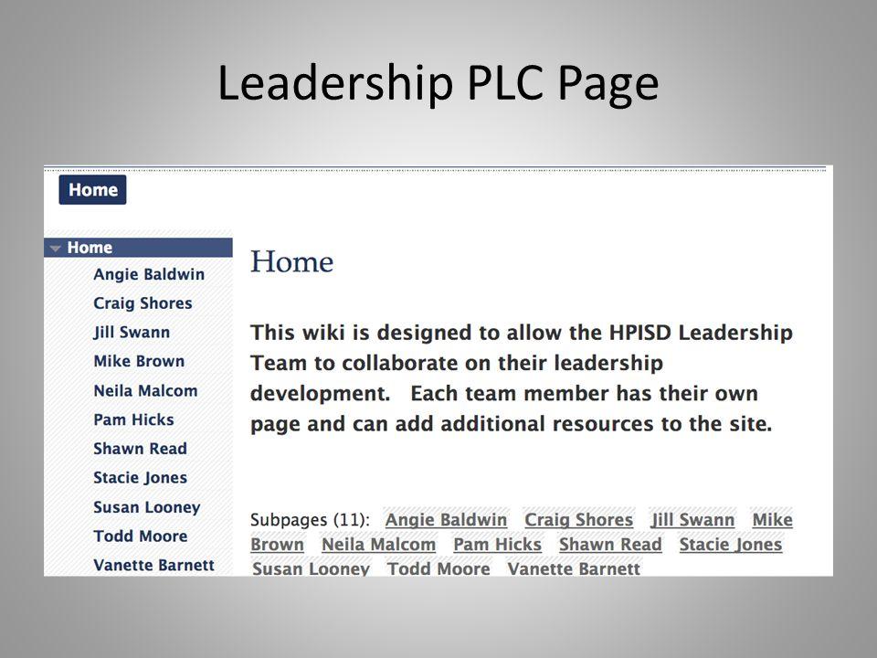 Leadership PLC Page
