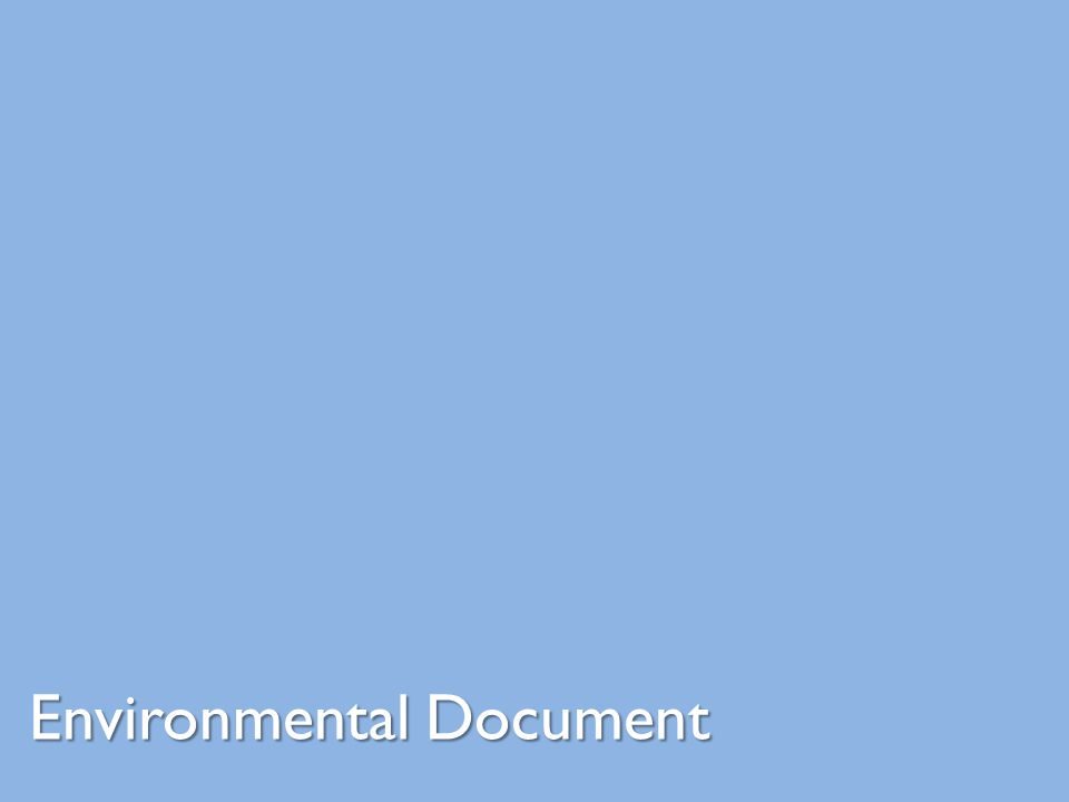 Environmental Document