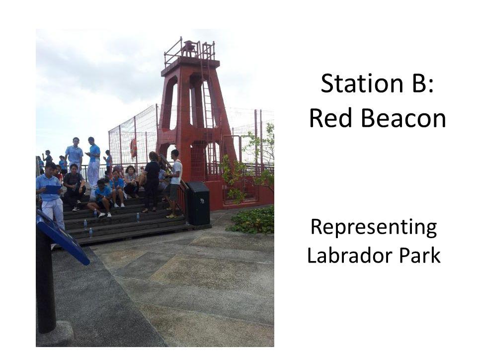 Station B: Red Beacon Representing Labrador Park