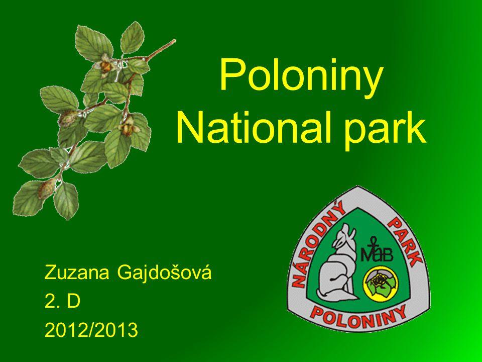 Poloniny National park Zuzana Gajdošová 2. D 2012/2013