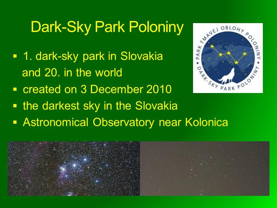 Dark-Sky Park Poloniny 1. dark-sky park in Slovakia and 20.