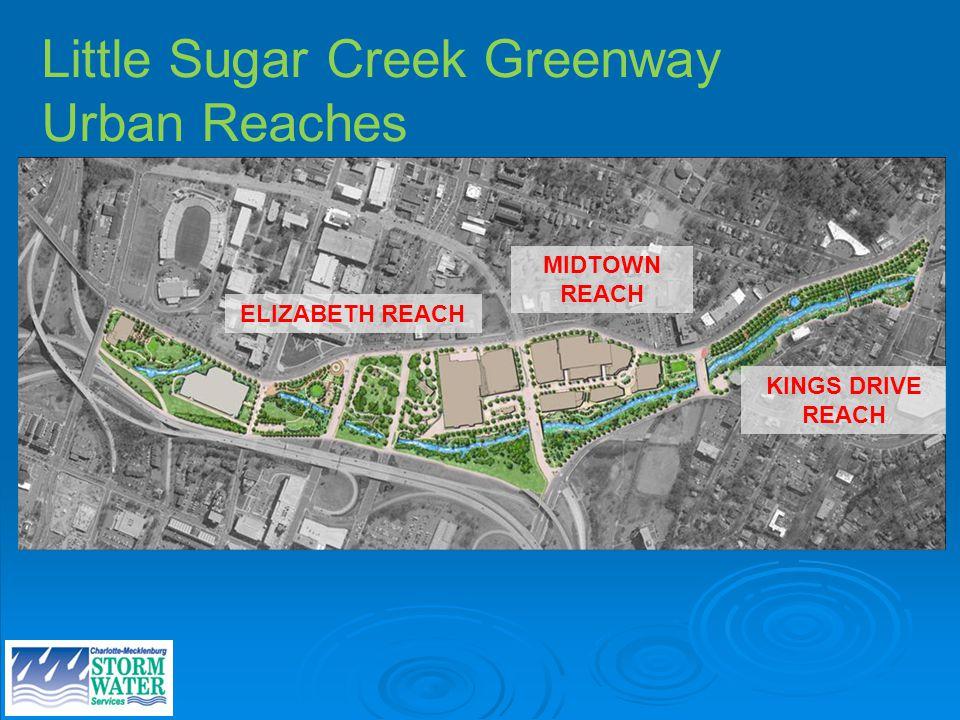 Little Sugar Creek Greenway Urban Reaches ELIZABETH REACH MIDTOWN REACH KINGS DRIVE REACH