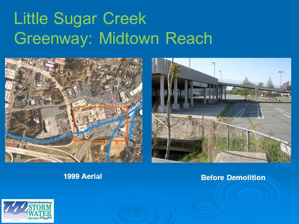 Little Sugar Creek Greenway: Midtown Reach Before Demolition 1999 Aerial