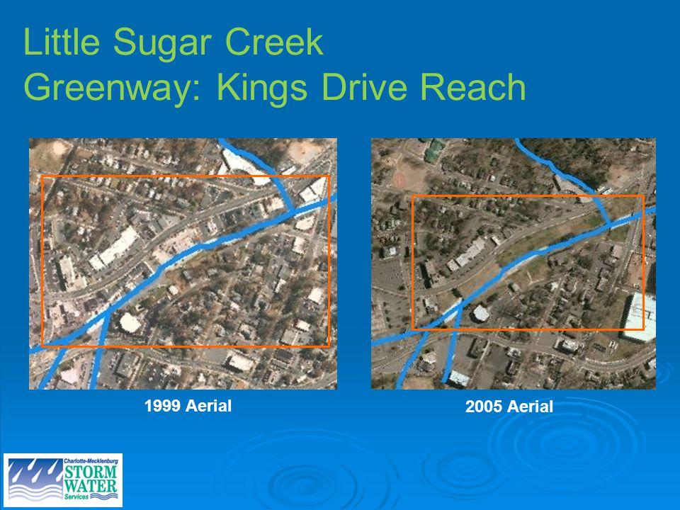 Site photos Little Sugar Creek Greenway: Kings Drive Reach 1999 Aerial 2005 Aerial