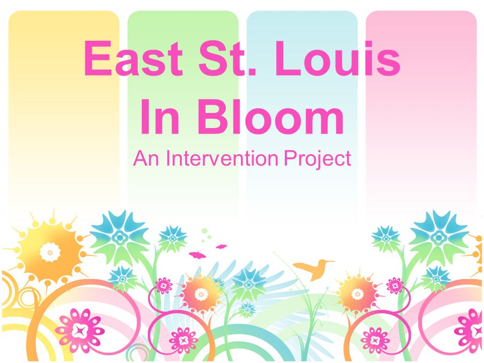 East St. Louis In Bloom An Intervention Project