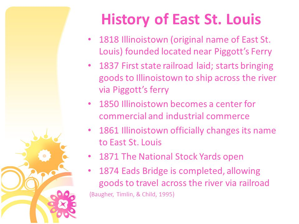 History of East St. Louis 1818 Illinoistown (original name of East St.