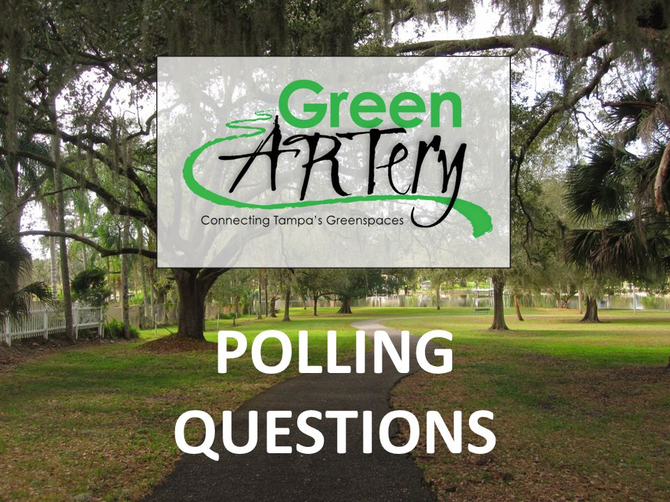 Tampa Walk-Bike Plan Phase III POLLING QUESTIONS