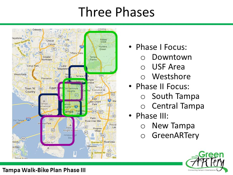 Tampa Walk-Bike Plan Phase III Polling Questions How often would you use the Green ARTery Trail.