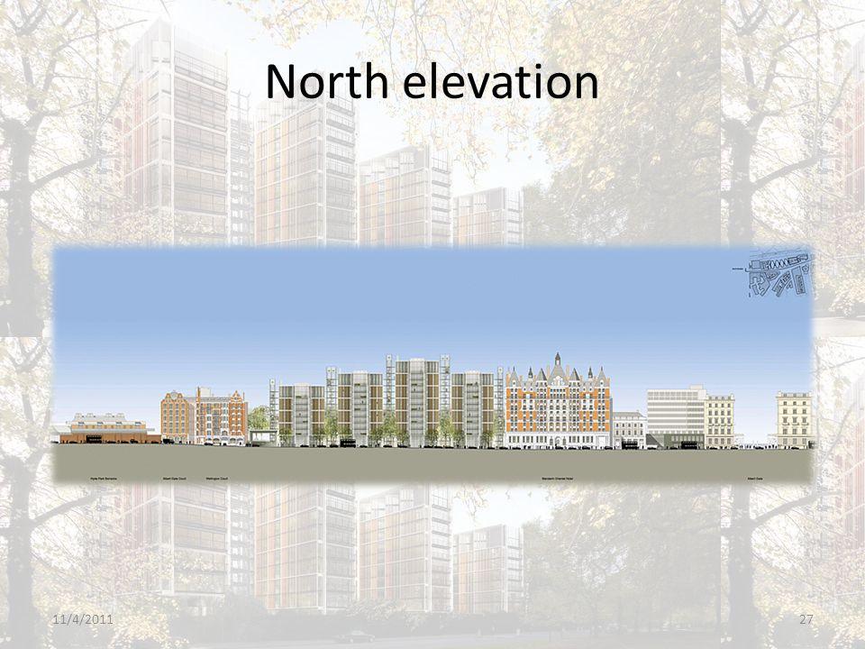 North elevation 11/4/201127
