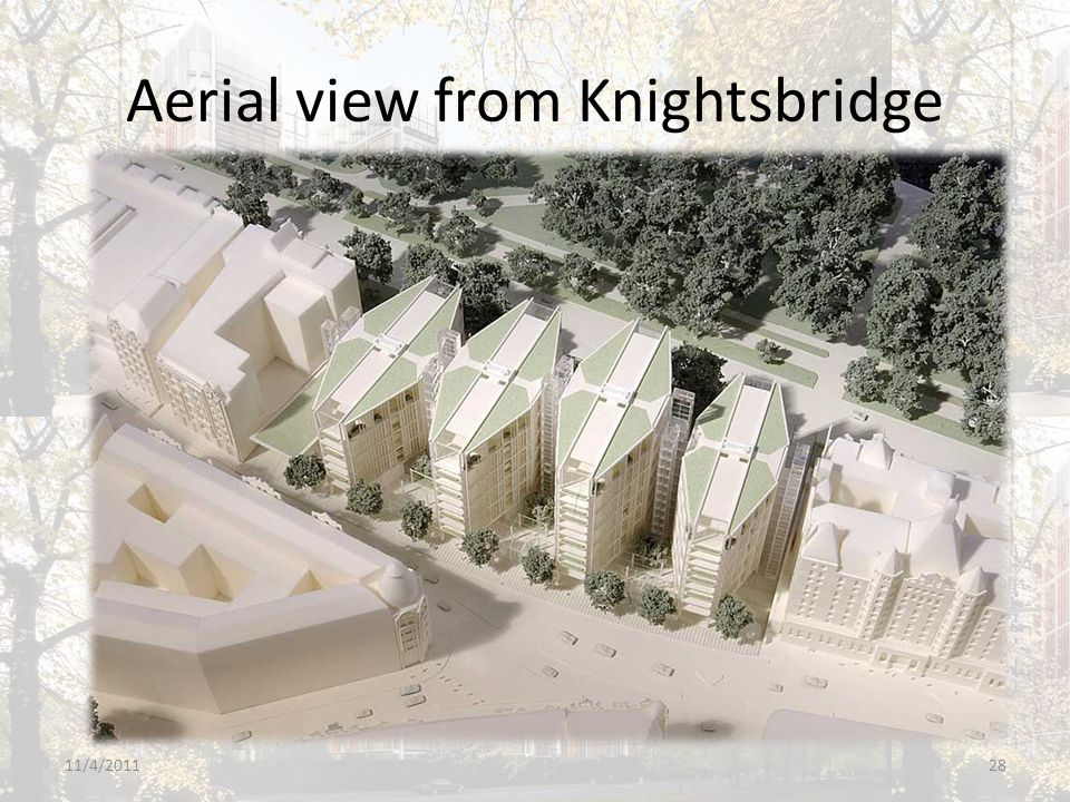 Aerial view from Knightsbridge 11/4/201128
